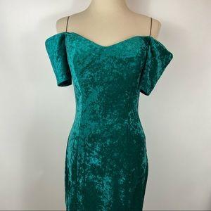 Vintage 90s All That Jazz Crushed Velvet Dress